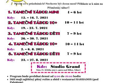 Příměstské tábory Sportovní taneční klub 6dance Tábor