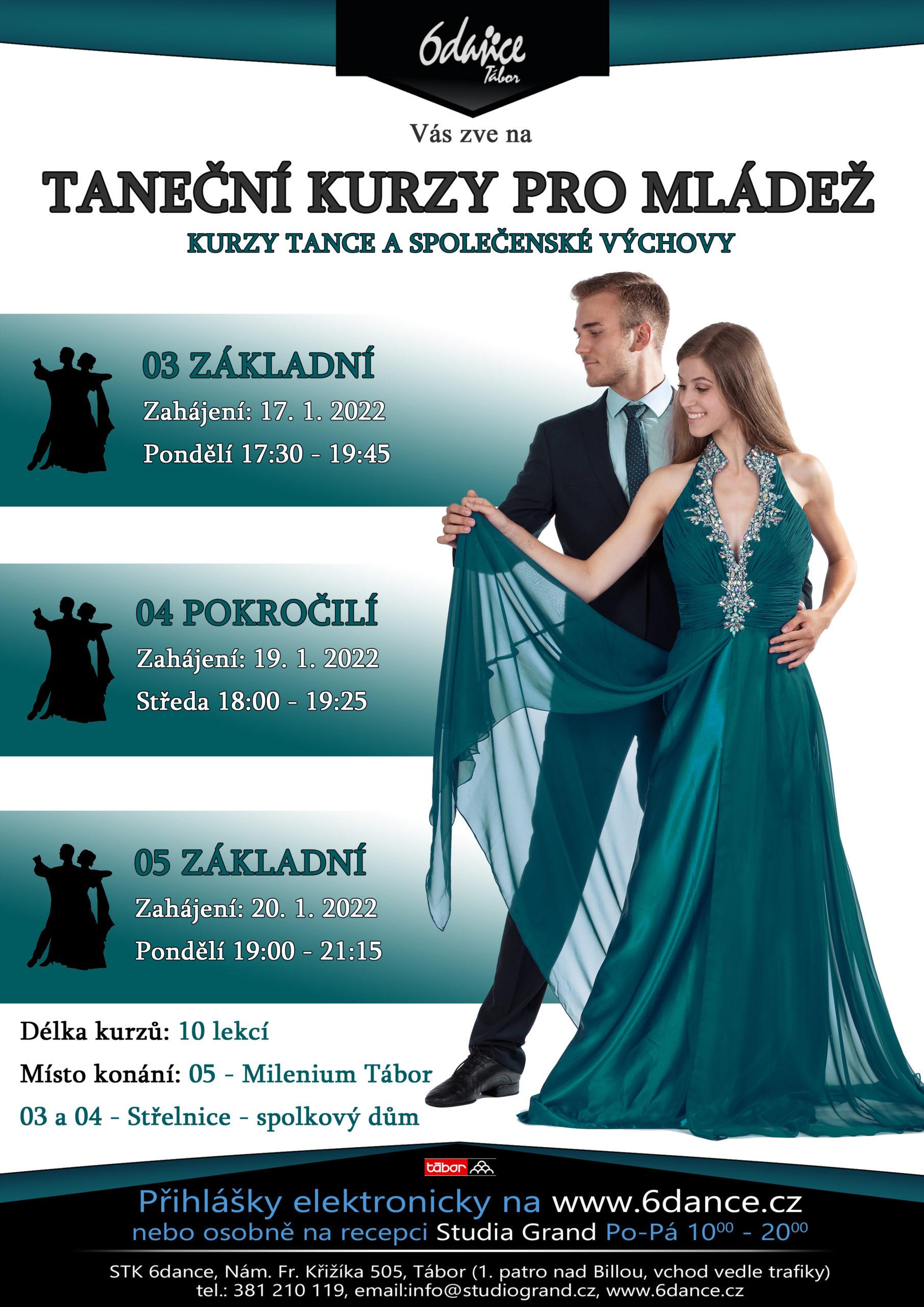 Taneční kurzy pro mládež